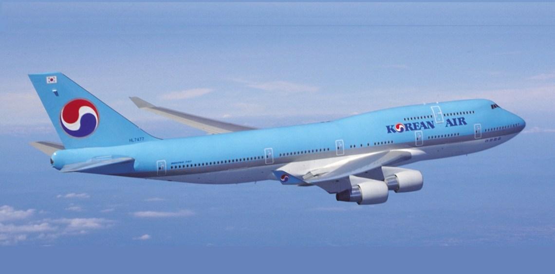 Korean Air Boeing 747-400 wide-body airliner