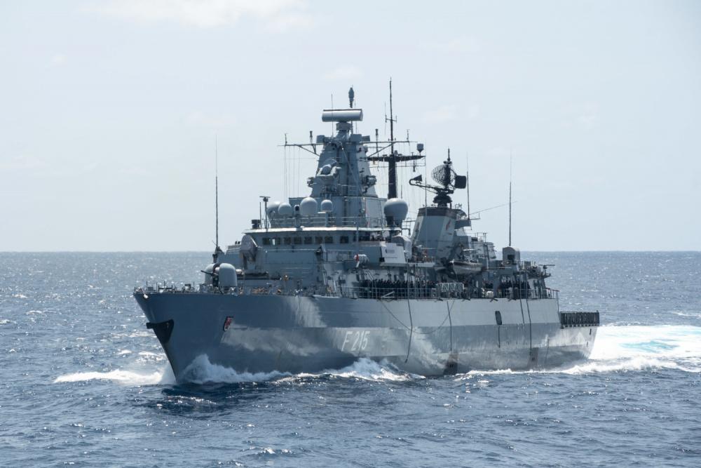German Navy Frigate Brandenburg (F215)