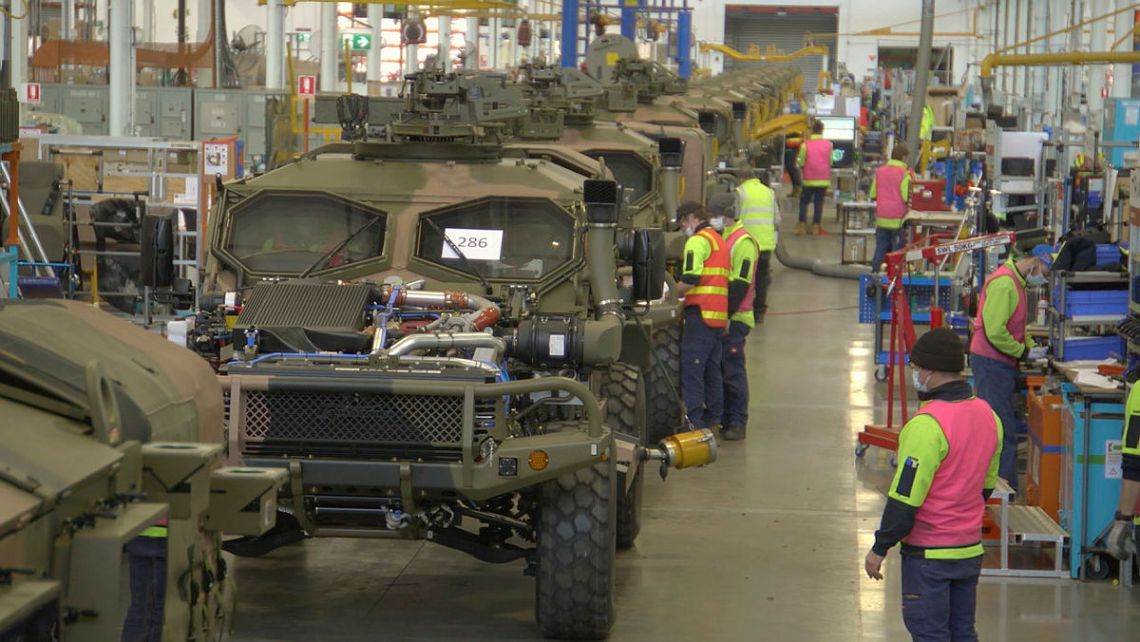 New Australian-designed Hawkei protected vehicle is ready to enter full-rate production at the Thales Protected Vehicles facility in Bendigo, Victoria.