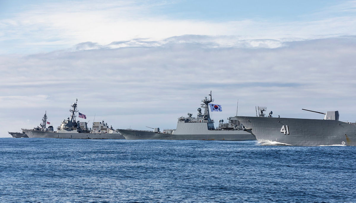 Australian, Japanese and South Korean and US Navies Showcase Combined Capability