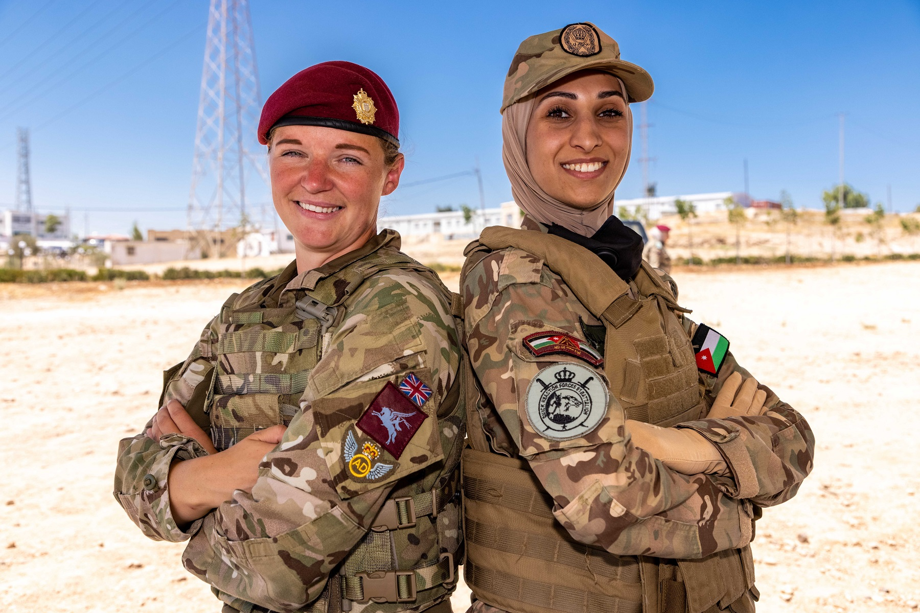 16 Air Assault Brigade Female Engagement Team conduct training with soldiers and officers from the Jordanian Army as a joint force on counter IED operations.