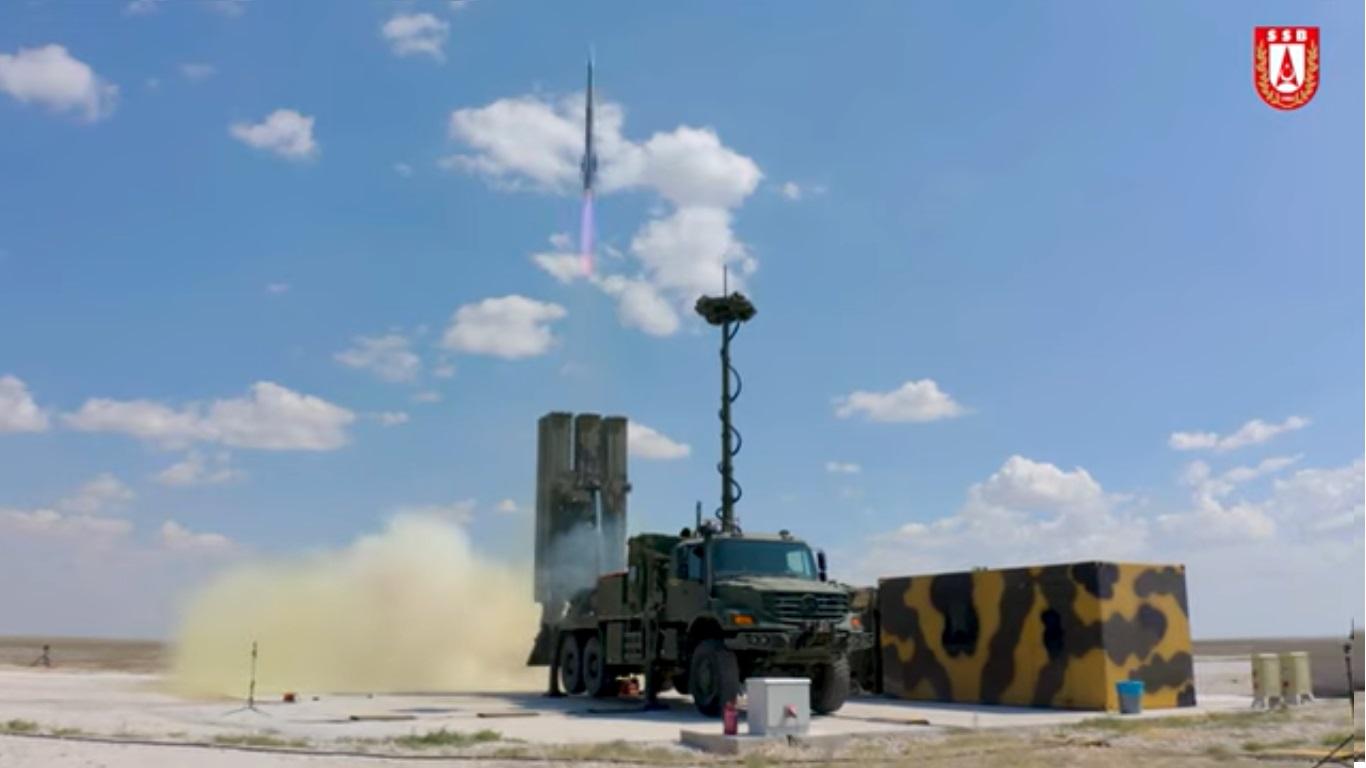 Turkey's HİSAR-O medium range air defense missile system successfully tested.