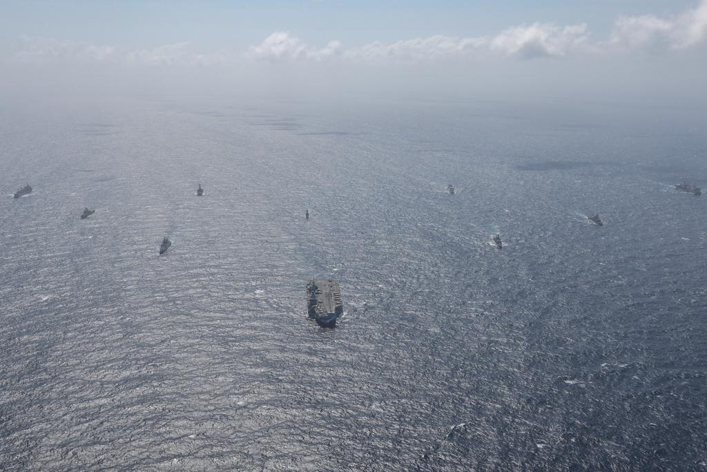 Indian Navy Exercises with Royal Navy Carrier Strike Group 21 Led by HMS Queen Elizabeth
