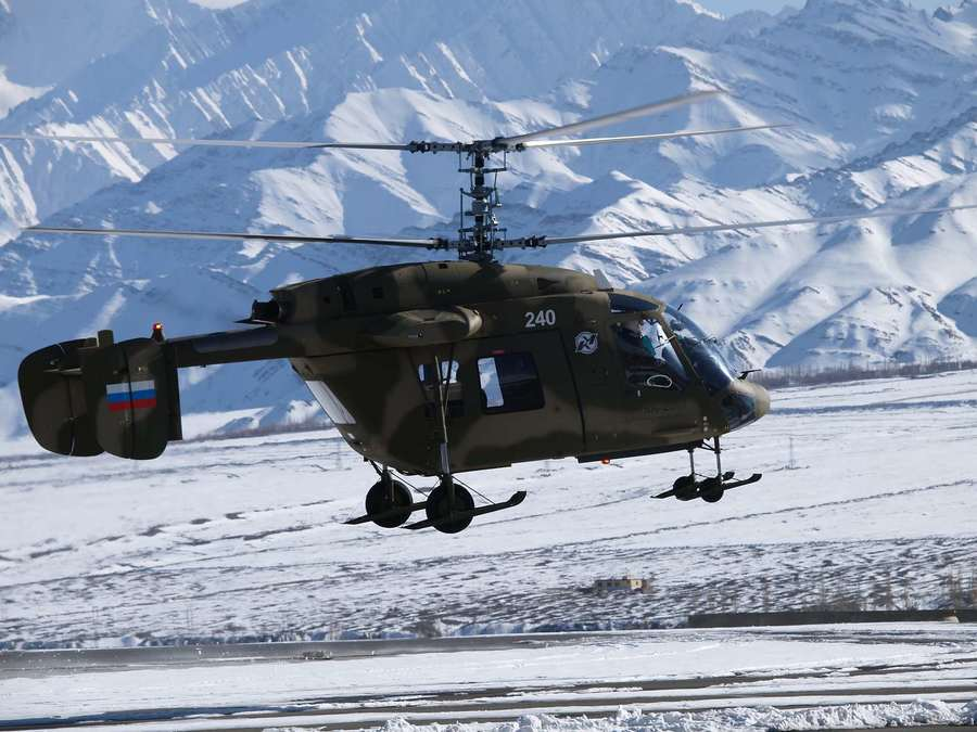 Military version of light multi-mission helicopter Ka-226T is designed for operation in hard-to-reach highland conditions