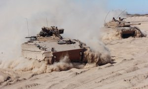 Chilean Army Marder Infantry Fightings Vehicles and Leopard 2 Main Battle Tanks