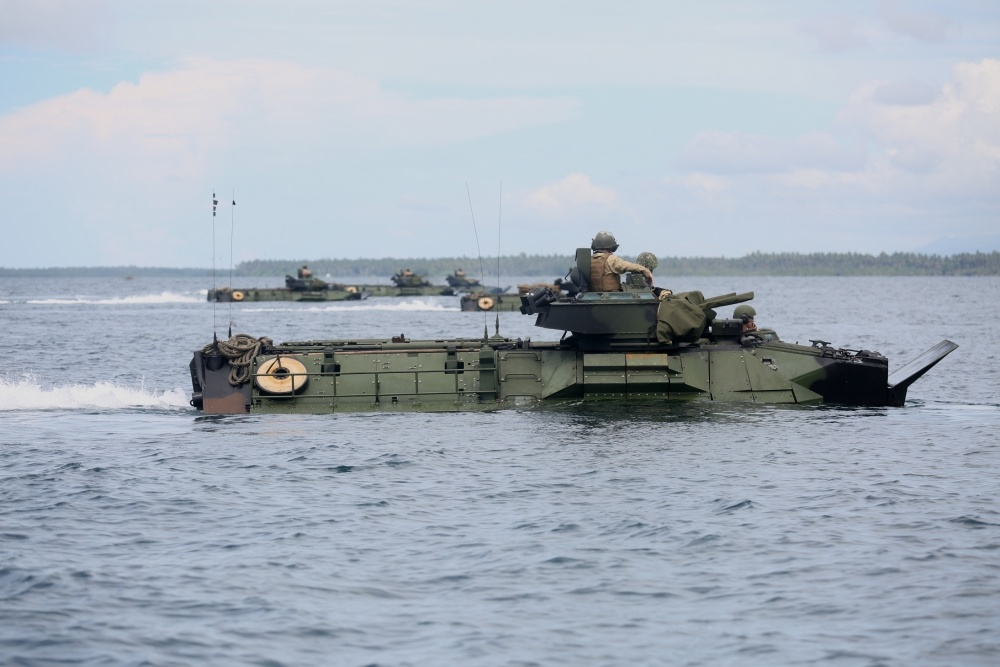 U.S. Marines conduct an amphibious exercise with service members of the Philippine Marine Corps.The service members participated in a number of classes and exercises with the Marines and Sailors aboard the USS Ashland (LSD 48) in support of exercise Cooperation Afloat Readiness and Training.