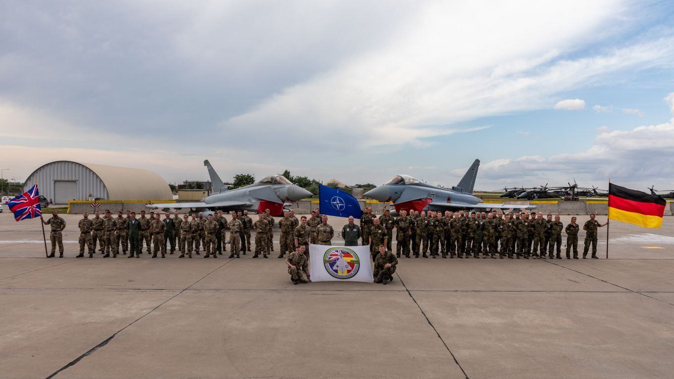 Royal Air Force and German Air Force Conclude NATO Air Policing Integration Training