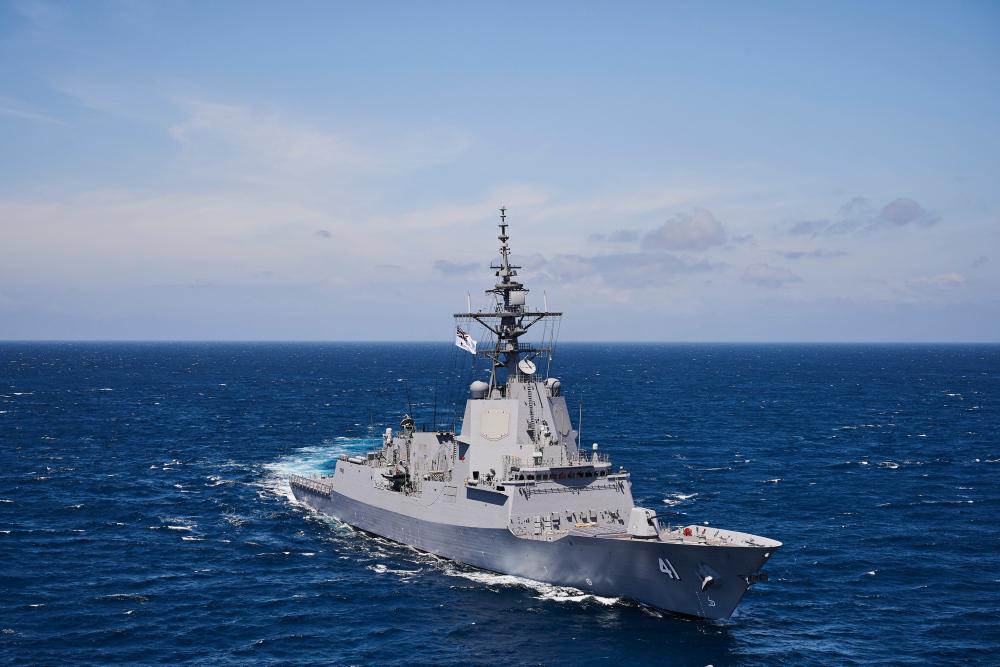 Royal Australian Navy Hobart-class air warfare destroyer HMAS Brisbane (D 41)