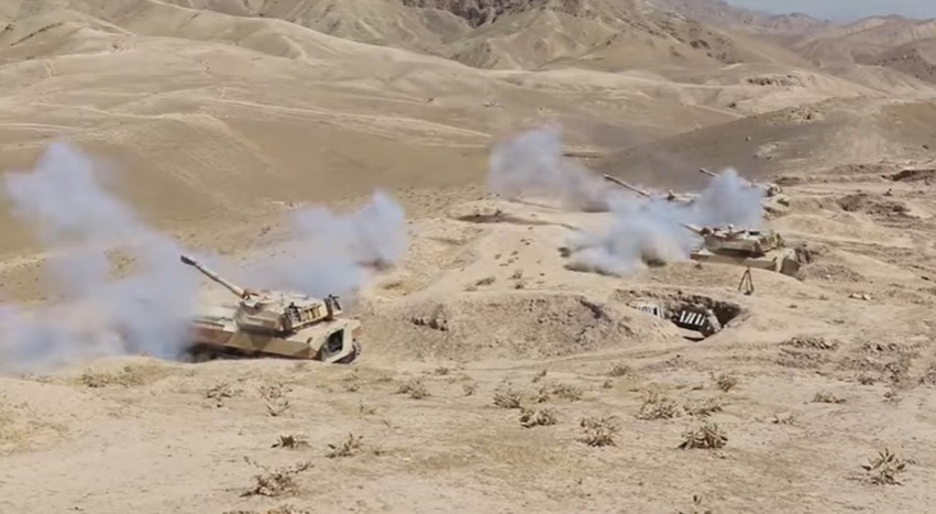 Russian 201st Military Base Artillery Units Carry Out Live Fire Drills in Tajikistan