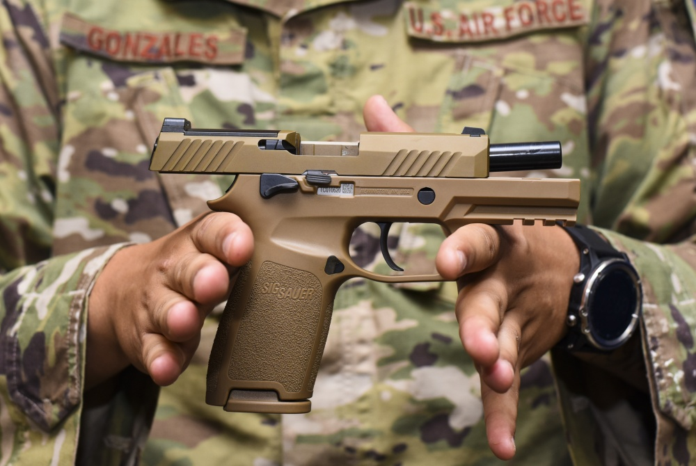 The Sig Sauer M18 pistol provides improved trigger pull, tritium night sights, larger ammo capacity, weapon reliability and durability to strengthen shooter lethality.
