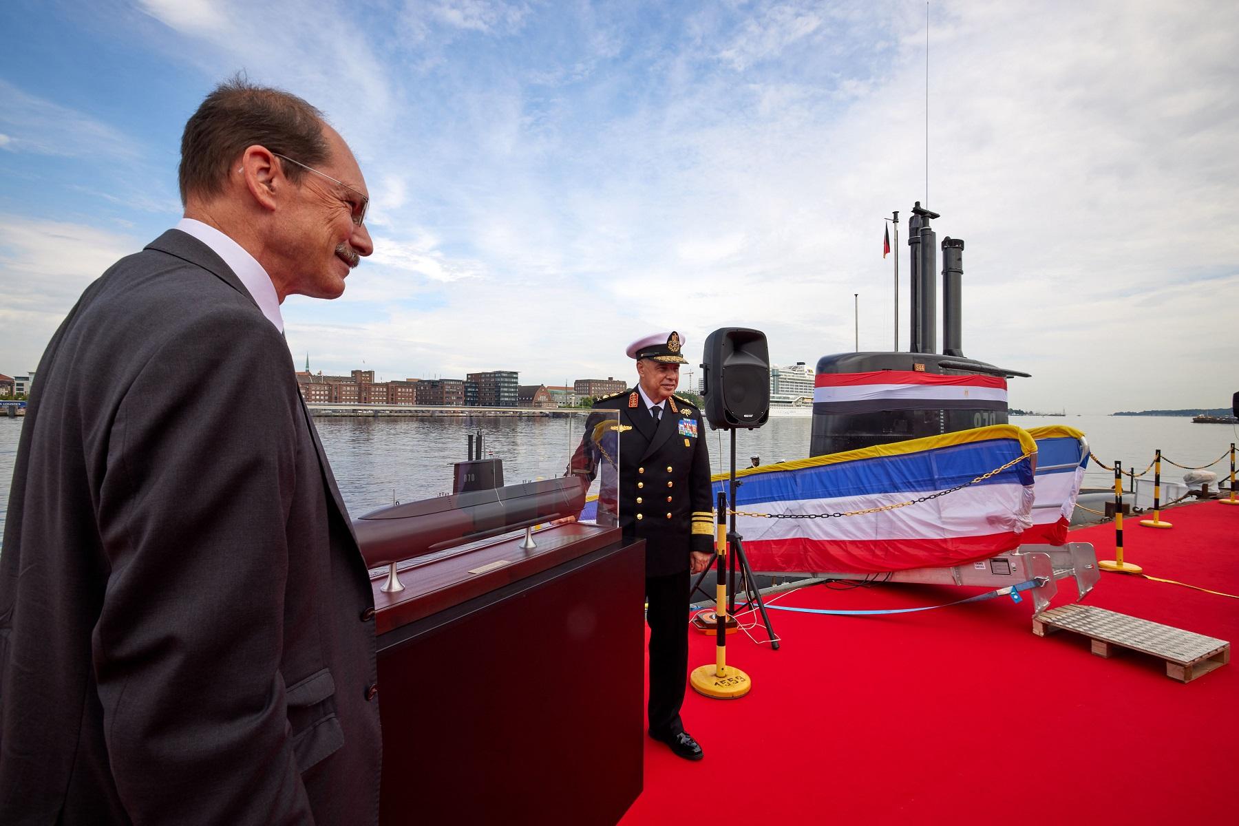 thyssenkrupp Marine Systems Hands Over Fourth 209/1400mod Class Submarine to Egyptian Navy