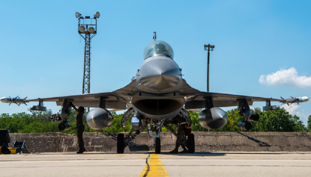 US Air Force 555th Fighter Squadron F-16s Arrive in Bulgaria for Thracian Star 21