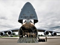 US Air Force C-5M Super Galaxy and C-17 Globemaster III Deliver Soldiers to Wisconsin During Emergency Deployment Readiness Exercise