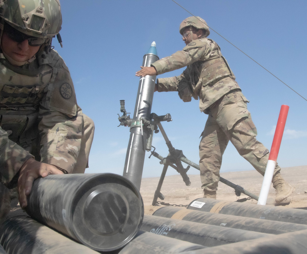 US Army 3-116th Armored Regiment Trains at Orchard Combat Training Center