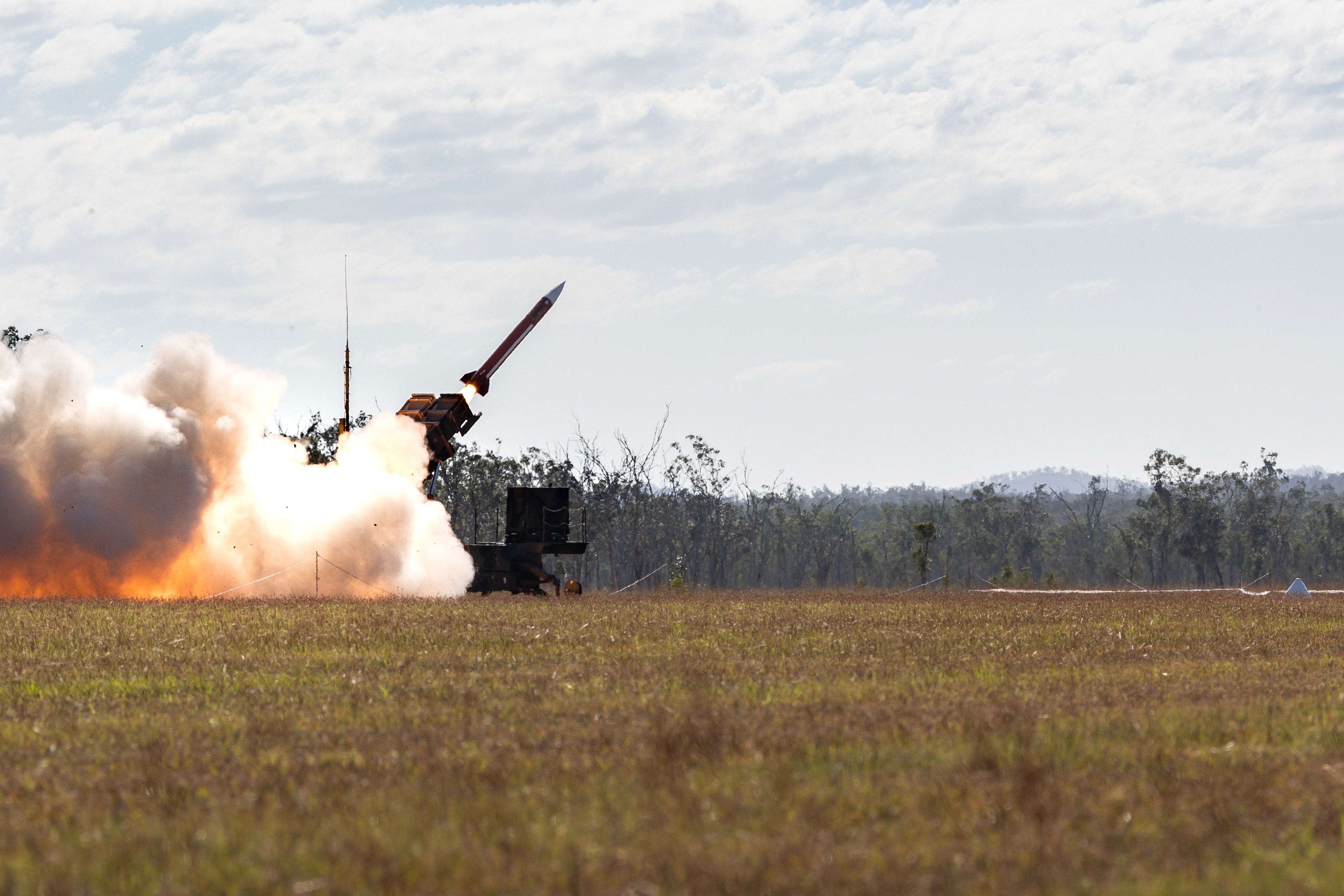 US Army MIM-104 Patriot Missile Live Fire During Exercise Talisman Sabre 21 in Australia