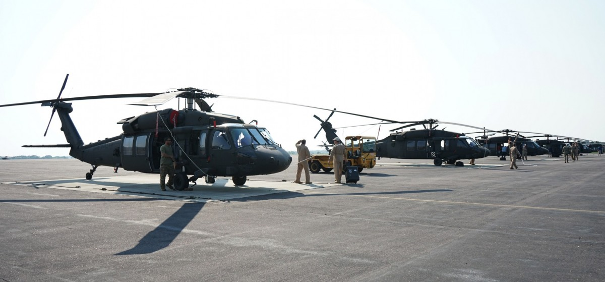 US Army National Guard Receives New UH-60V Black Hawk Utility Helicopters