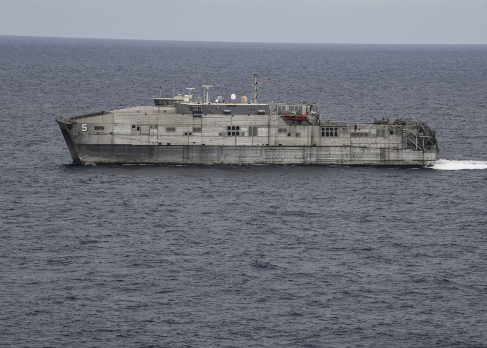 The Spearhead-class expeditionary fast transport vessel USNS Trenton (T-EPF-5)