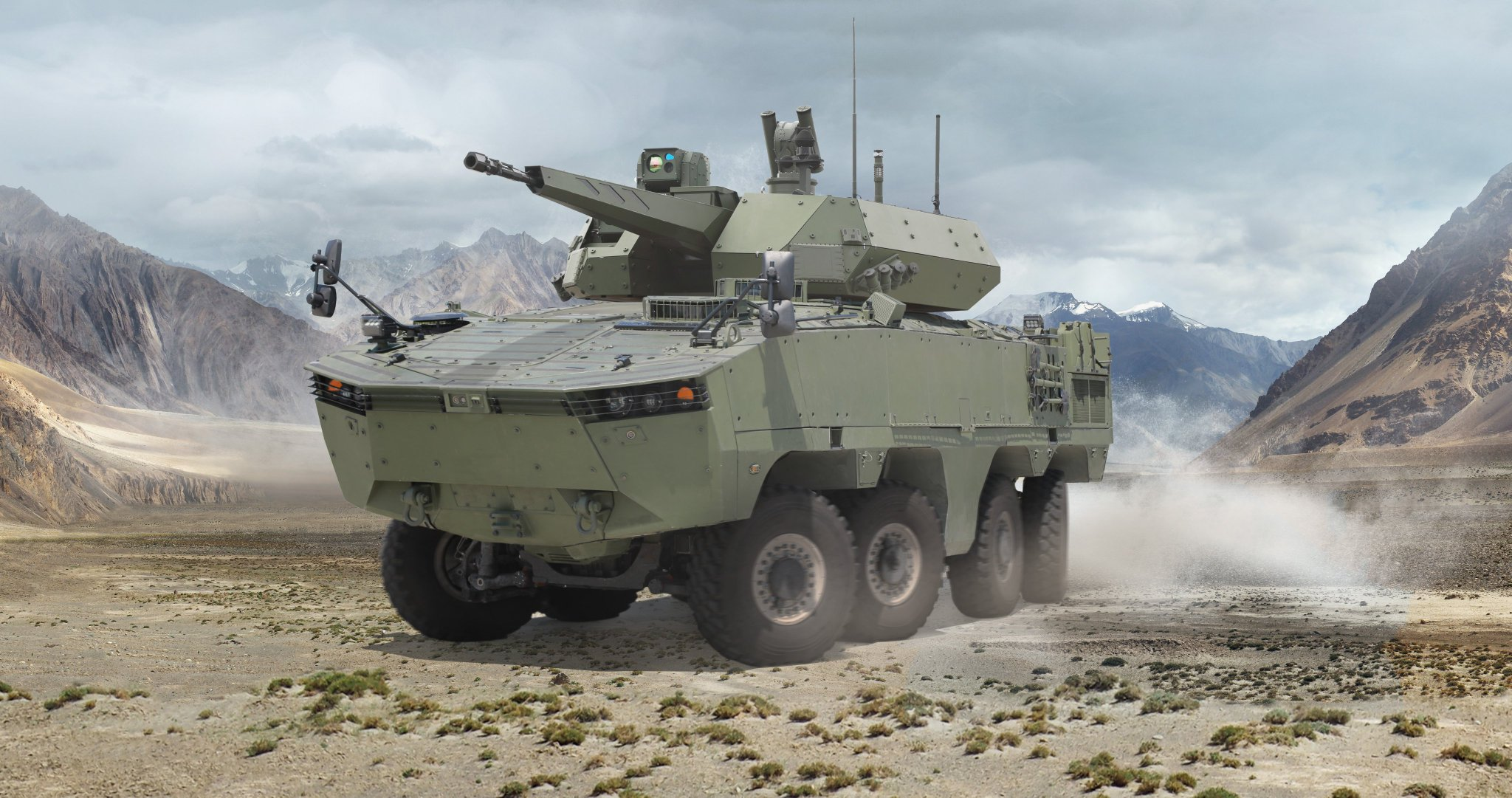 ARMA 8x8 Multi-wheeled Armored Vehicle with KORHAN turret system