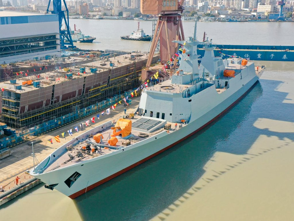 China's Hudong Zhonghua Launches Third Type 054A/P Frigate for Pakistan Navy