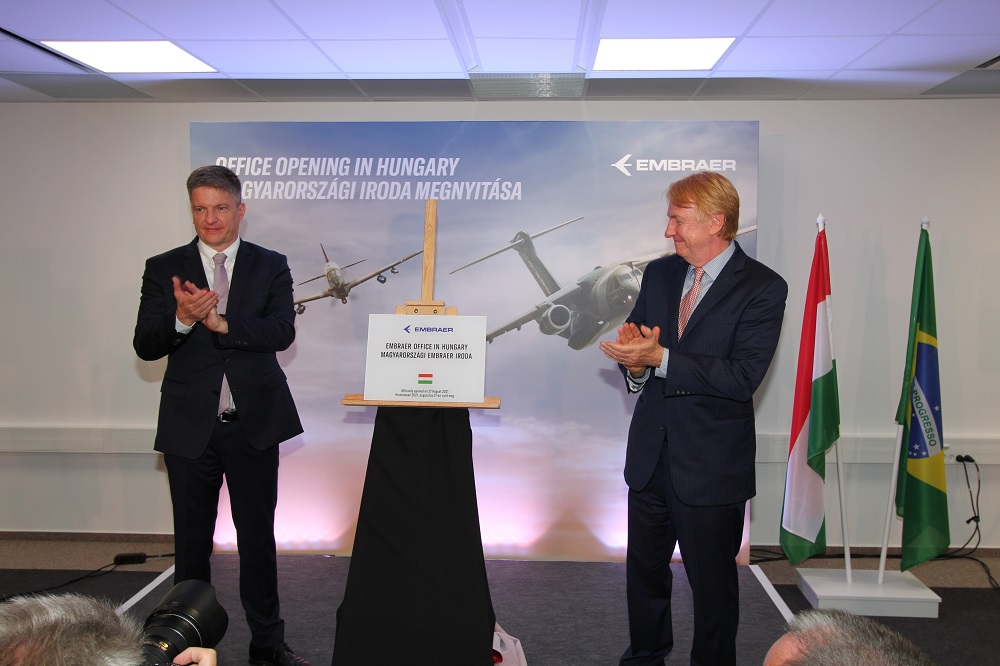 Brazilian Aerospace Manufacturer Embraer Opens an Office in Budapest, Hungary