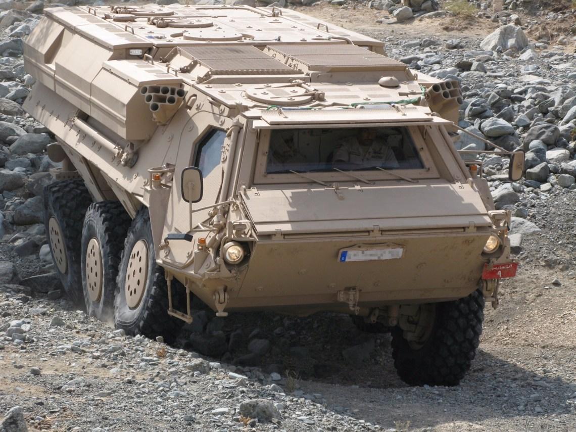 Rheinmetall Fuchs 2 wheeled armoured vehicle