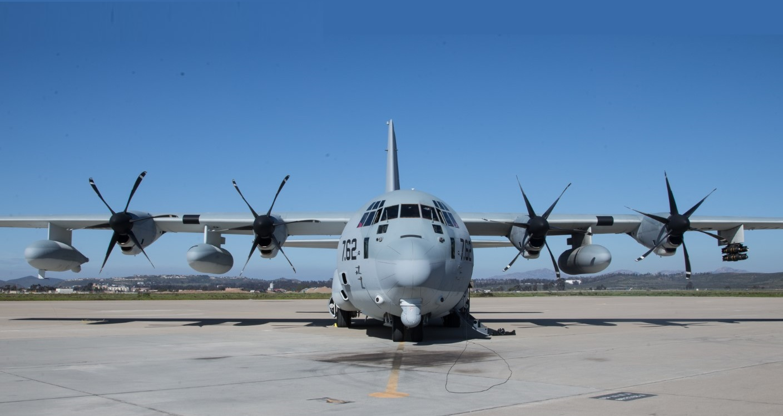 U.S. Marine Corps KC-130J Hercules tactical tanker-transport