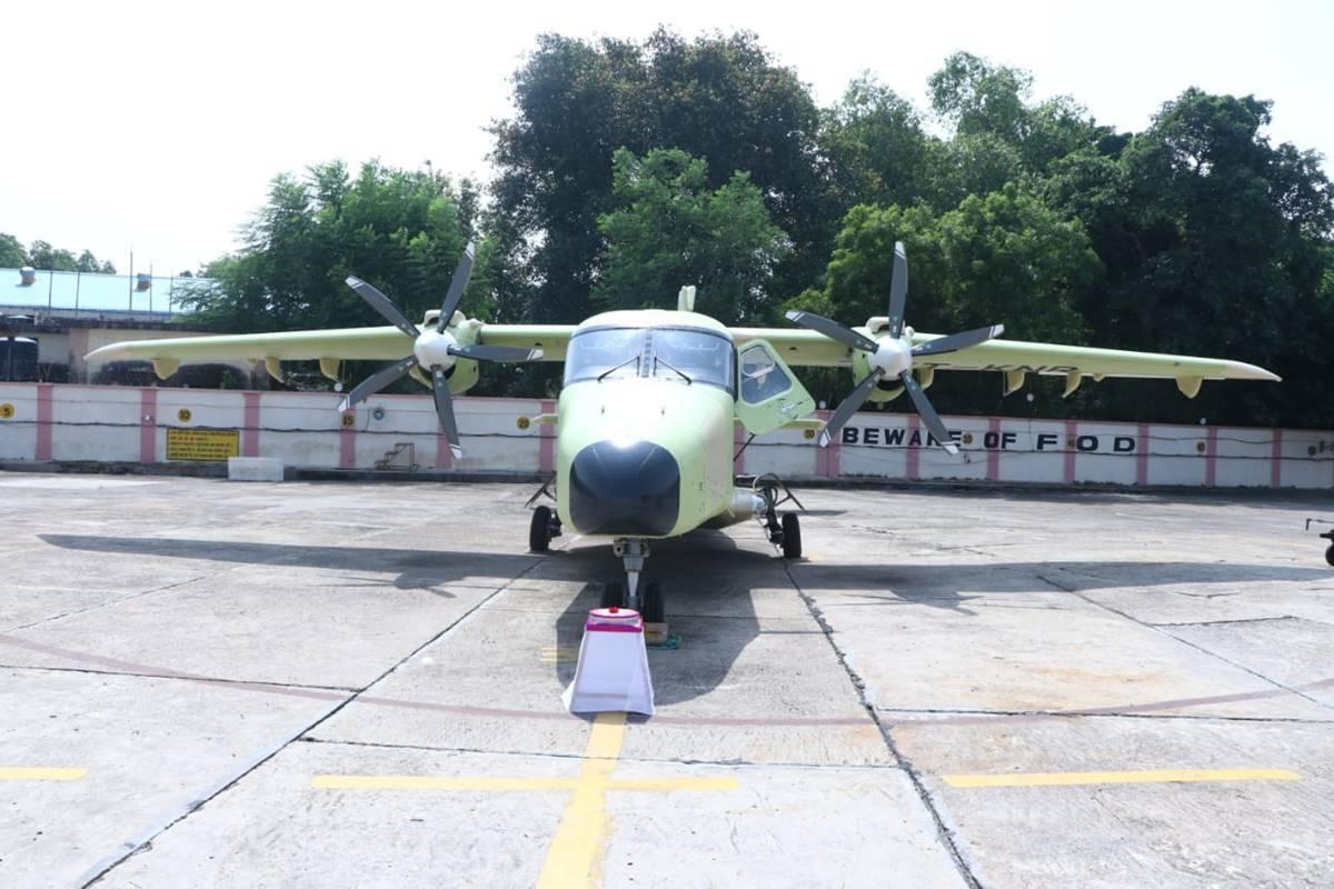 India's Hindustan Aeronautics Limited Conducts Ground Trials of Its Hindustan-228 (VT-KNR) Aircraft