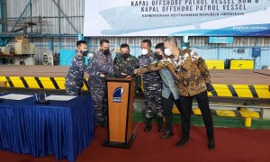 DRU Shipyard Cuts First Steel on Indonesian Navy's Offshore Patrol Vessels (OPV)