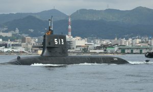 Japan Maritime Self-Defense Force JS Taigei (SS-513) Head out for Sea Trials