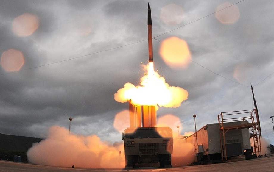 HEMTT-based M1075 Terminal High Altitude Area Defense (THAAD) Missile Launcher.