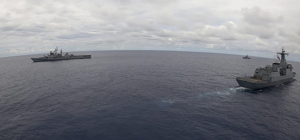 Philippine Navy and Indian Navy Ships Conduct Maritime Exercise in West Philippine Sea
