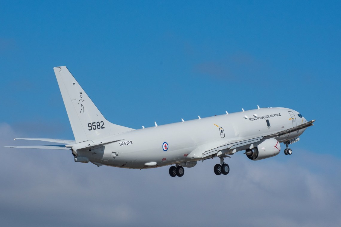 Royal Norwegian Air Force's First Boeing P-8A Poseidon Performs Maiden Flight