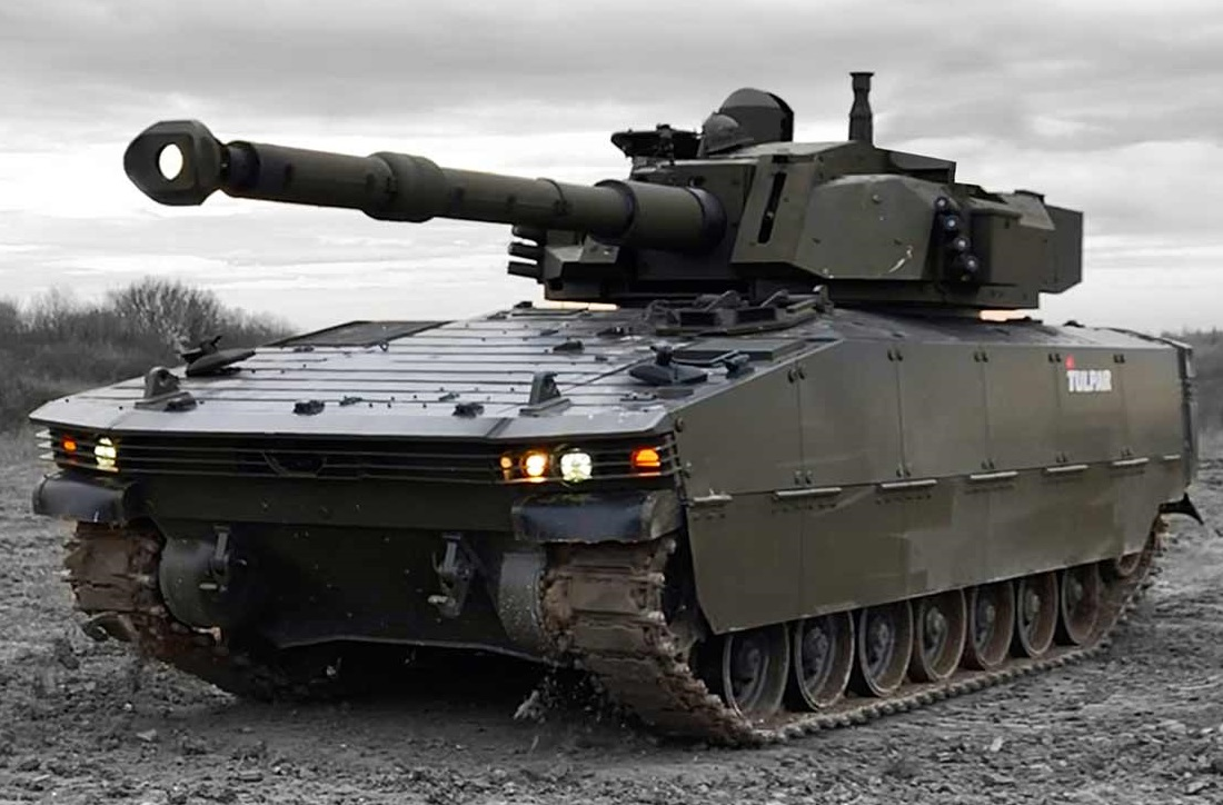 TULPAR Next-generation Armored Tracked Vehicle, with 105 mm turret system