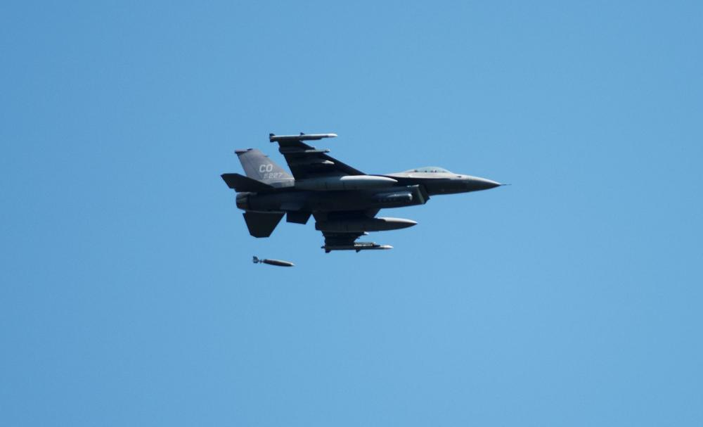 US Air Force F-16 Fighting Falcon Drop JDAM Munitions for First Time at Fort McCoy's Impact Area