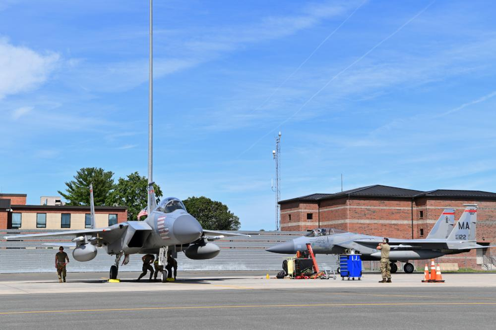 US Air National Guard 104th Fighter Wing Assesses Capabilities with Mobility Exercise