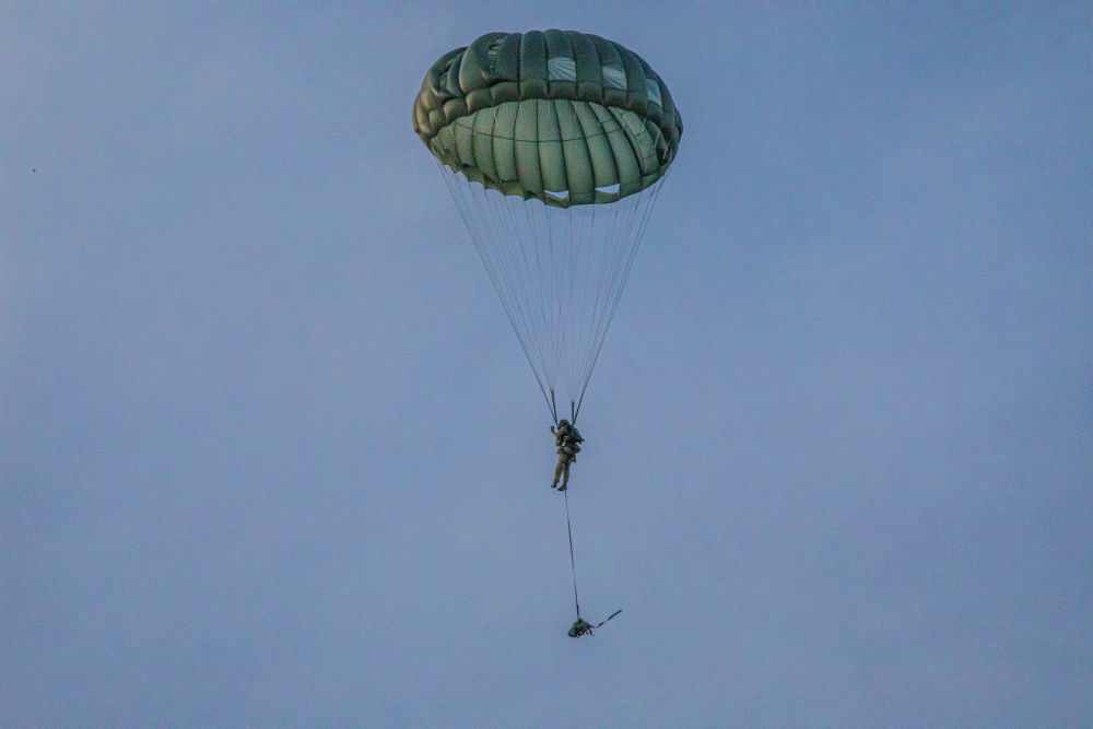 US Army and Japan Ground Self-Defense Force Paratroopers Descend on Guam During Exercise Forager 21