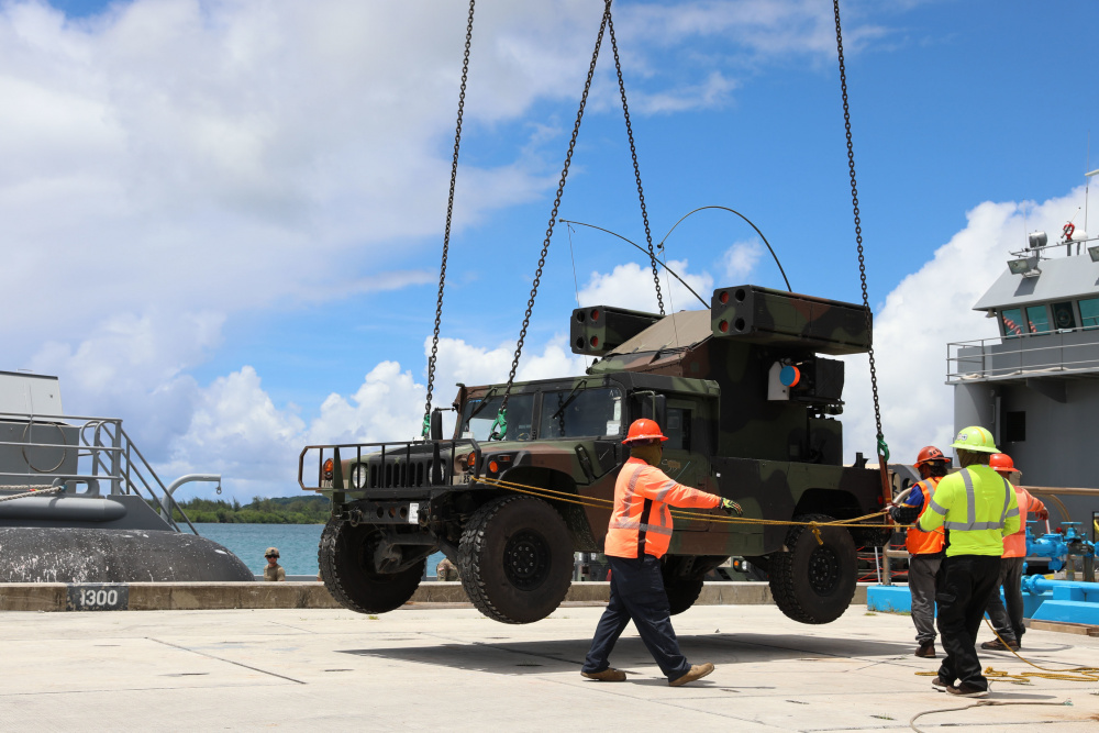 US Army Load Avenger Air Defense System Onto Army Watercraft System for Forager 21
