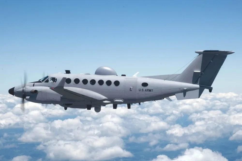 U.S. Army Beechcraft King Air 300 Medium Altitude Reconnaissance and Surveillance System (MARSS) aircraft