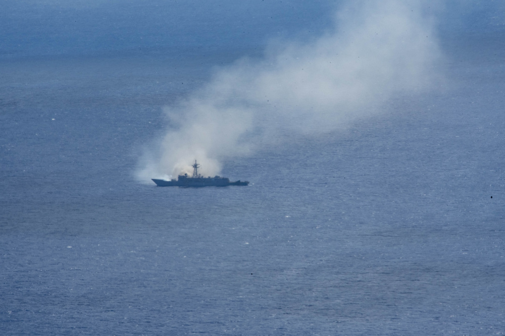 US Joint Forces Conduct Sinking Exercise on Decommissioned Guided Missile Frigate