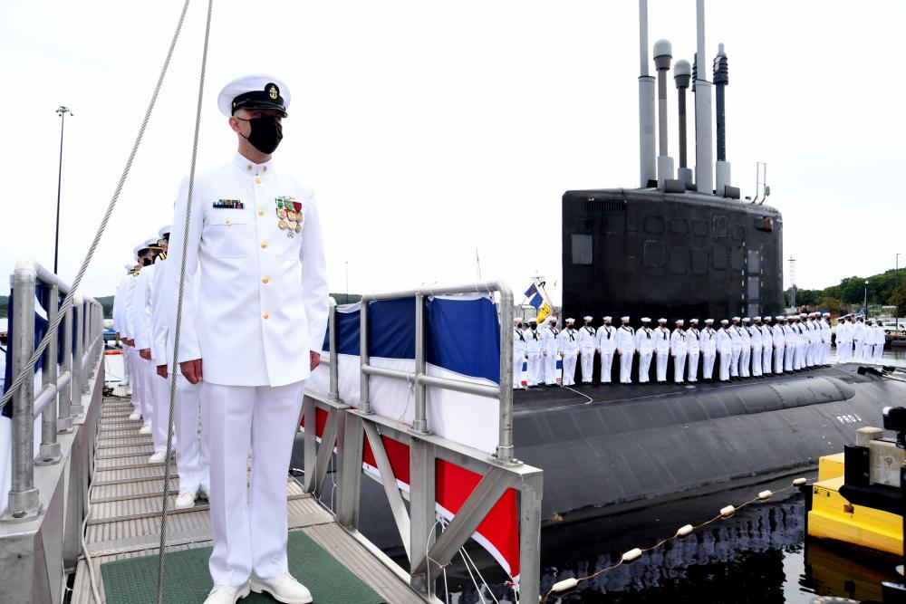 US Navy Celebrates Commissioning of Nuclear Powered Attack Submarine USS Vermont (SSN 792)