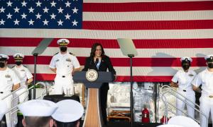 Vice President Harris Visits Littoral Combat Ship USS Tulsa (LCS 16) in Singapore