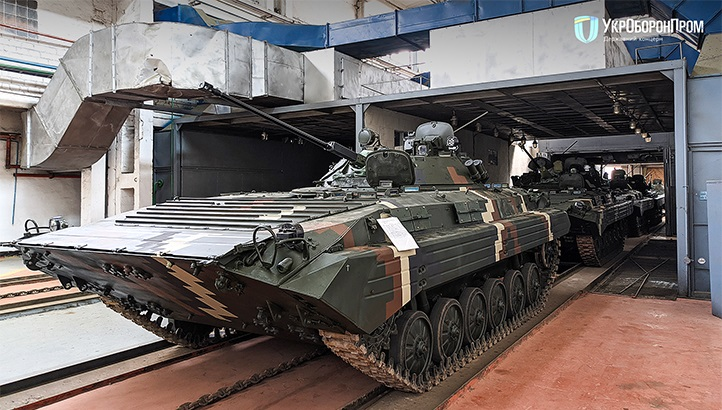 Zhytomyr Armored Plant Delivered Upgraded BMP-2 Infantry Fighting Vehicle to Ukrainian Army