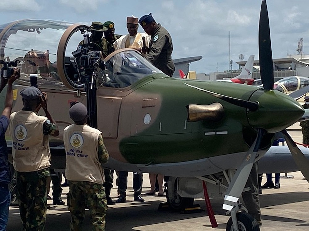Sierra Nevada A-29 Super Tucano Light Attack Aircraft Officially Inducted into Nigerian Air Force