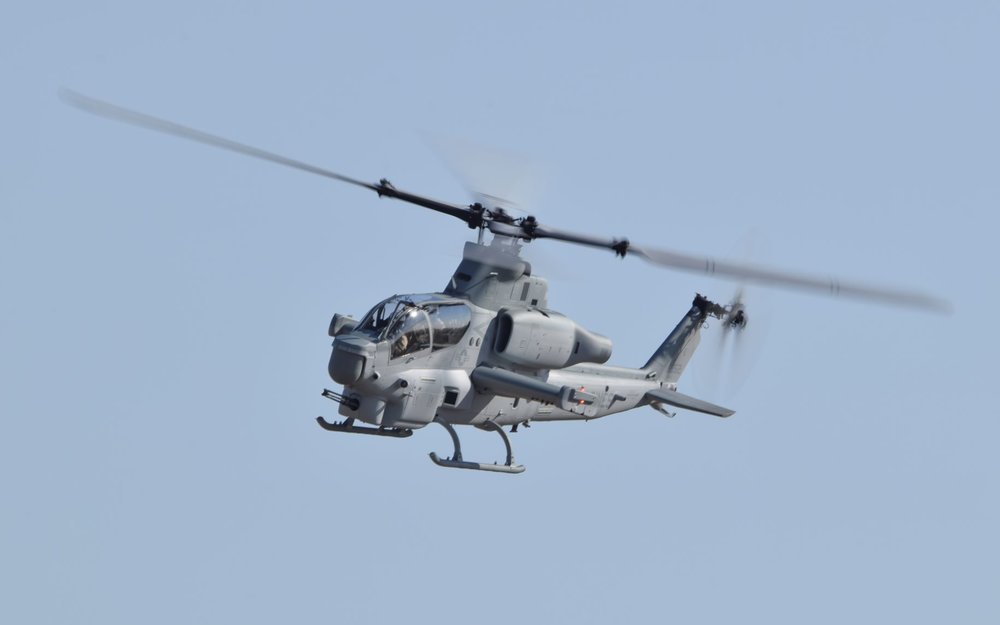 US Marine Corps AH-1Z Attack Helicopter