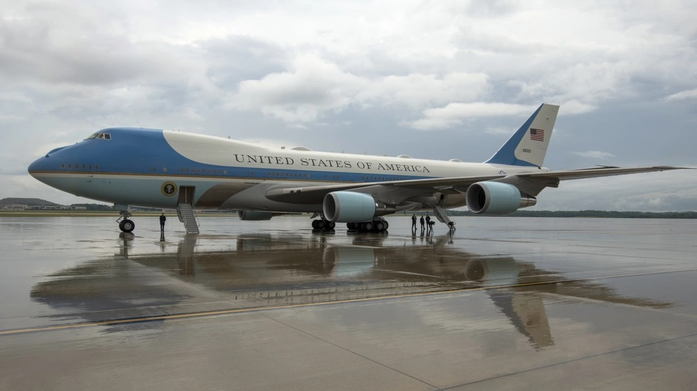 The U.S. Air Force VC-25A aircraft, better known as Air Force One, and its crew standby for the arrival of President at Joint Base Andrews, Maryland 2020.
