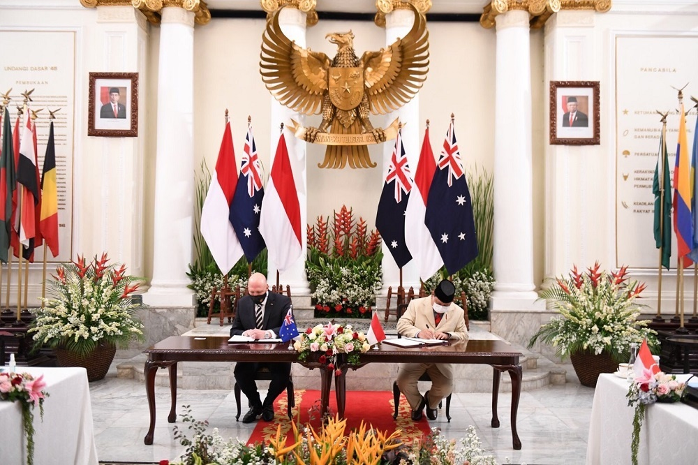Defense Minister Prabowo Subianto received a visit from the Australian Minister of Defense, Peter Dutton MP.