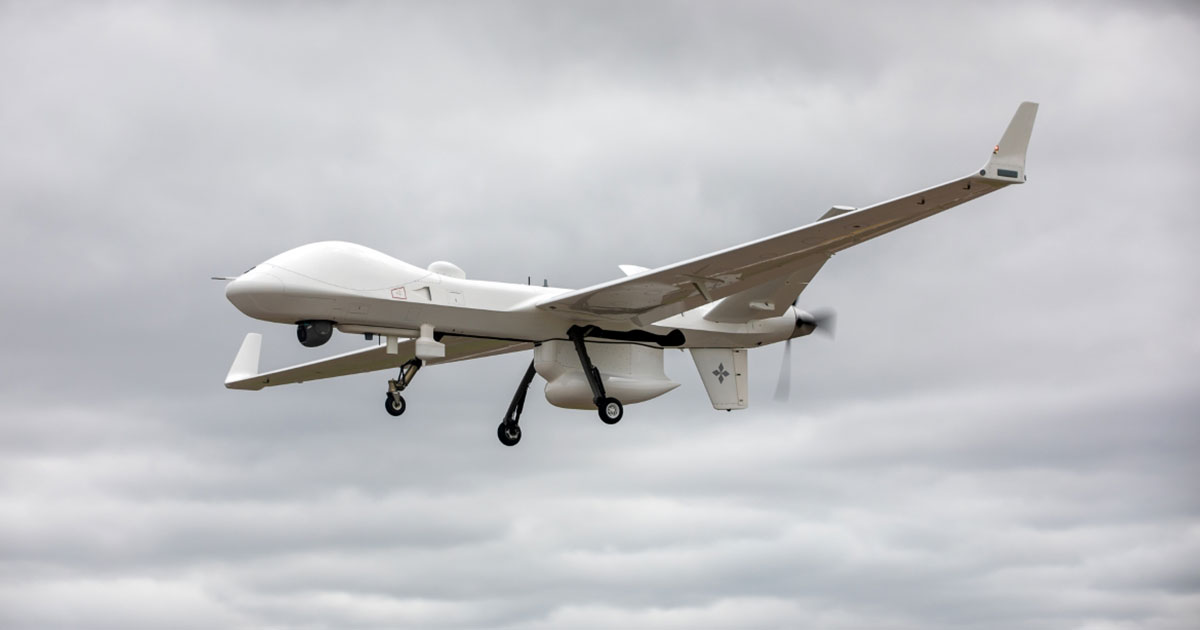GA-ASI MQ-9B SeaGuardian Remotely Piloted Aircraft Flies from UK to the Netherlands