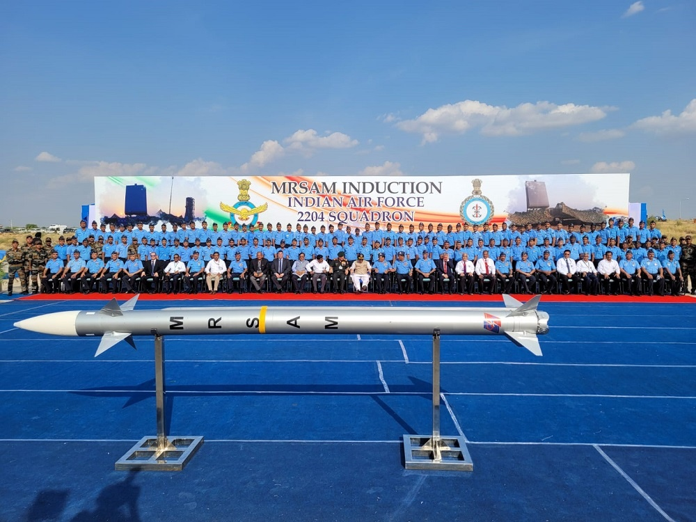 Indian Air Force Induction Ceremony for MRSAM Air & Missile Defense System