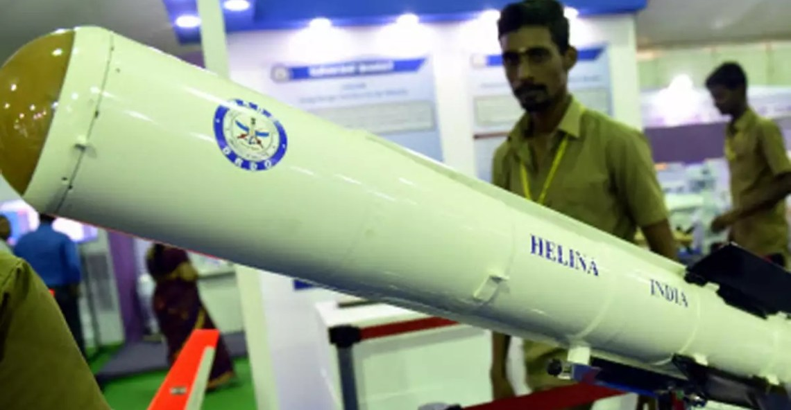 Indian Army Helicopter Launched Anti-tank Guided Missile
