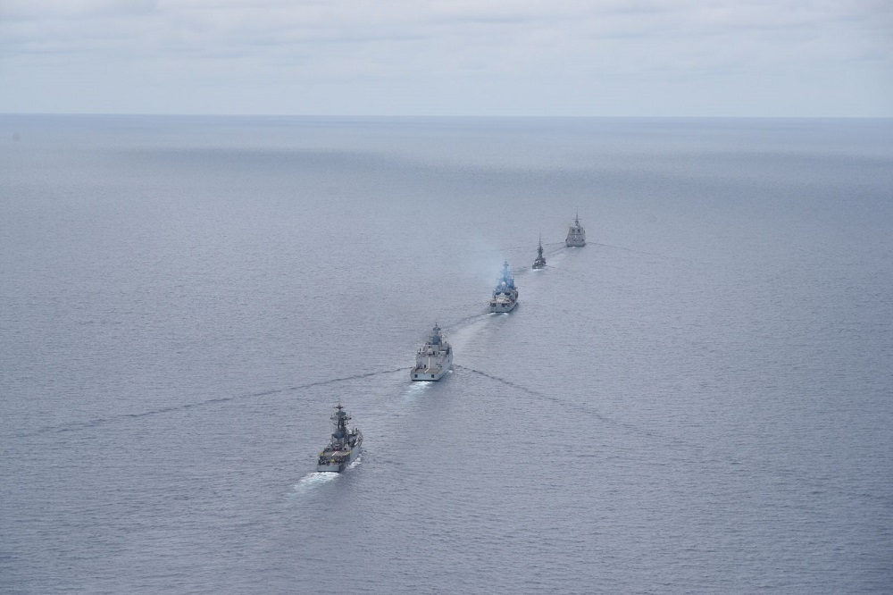 Indian Navy Conducts Maritime Bilateral Exercise with Republic of Singapore Navy